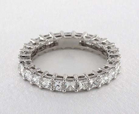Platinum Princess Shape Diamond Eternity Band (2.00 CTW.)