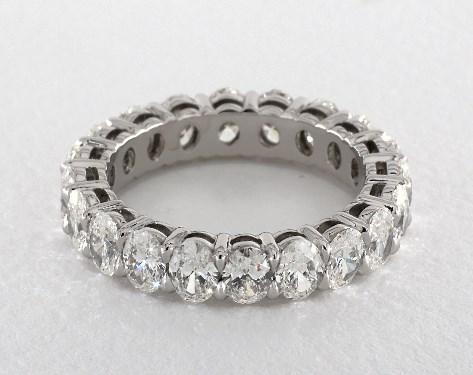 Oval Shape Diamond Eternity Band 3ct Tw Platinum 13070p