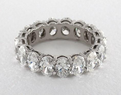 2c5507b5ae2562 Oval Shape Diamond Eternity Band (5ct tw) | Platinum