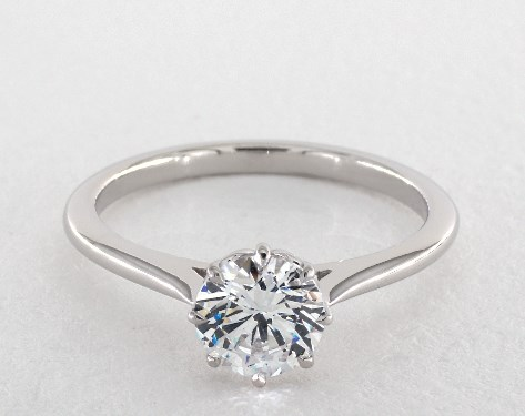 14K White Gold Classico Single Shank Engagement Ring Style#: WE503P by Danhov