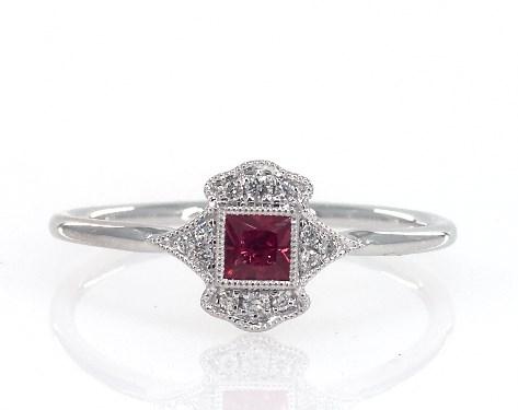 Fashion Rings Gemstone Rings 14k White Gold Art Deco