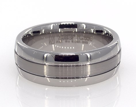 Wedding Rings Mens Alternative Metals Tungsten Carbide 8mm Domed