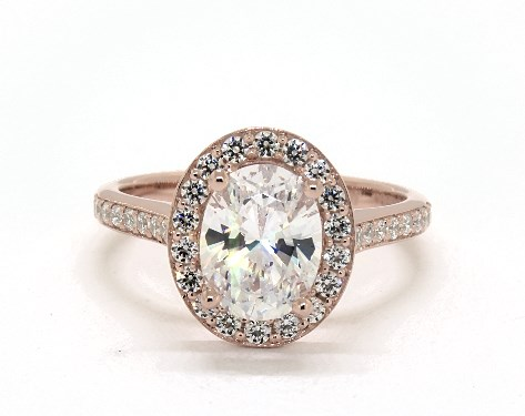 Engagement Rings Jeff Cooper 14k Rose Gold Camila Oval Engagment