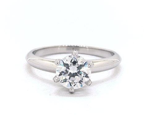 14K White Gold Scallop Pave' Knife Edge Engagement Ring (Handmade)