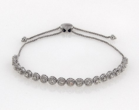 Image result for 14K WHITE GOLD BOLO DIAMOND BRACELET james allen