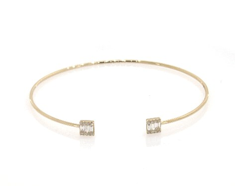 14K Yellow Gold Open Luxe Diamond Bracelet