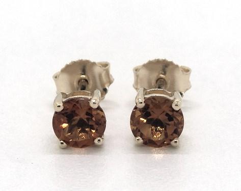 14K Yellow Gold Citrine Birthstone Earrings (5mm)
