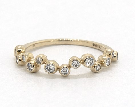 d71fc01e9fbd2 14K Yellow Gold Bezel Set Diamond Bubble Ring