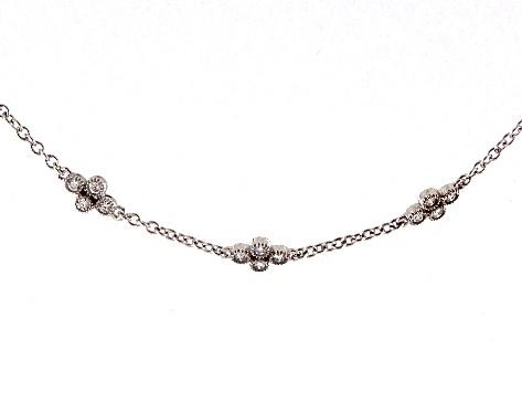 Necklaces Diamond Necklaces 14k White Gold Clover