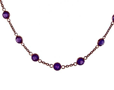 b5de41729 necklaces, gemstone necklaces, 14k rose gold amethyst station necklace by  effy item 65022