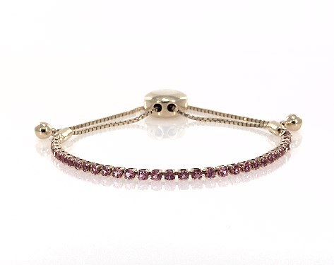 14K Yellow Gold Pink Sapphire Bolo Bracelet By EFFY
