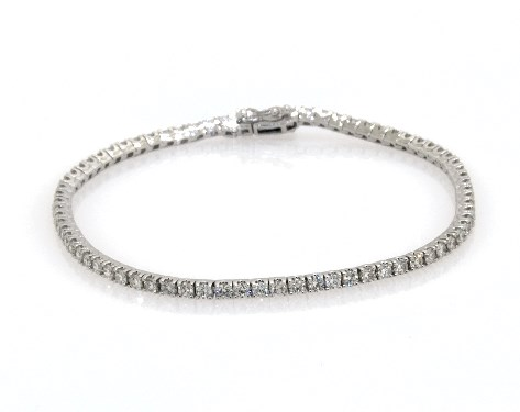14K White Gold Diamond Tennis Bracelets (3 CTW)