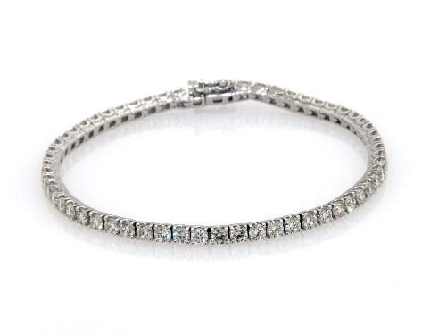 14K White Gold Diamond Tennis Bracelets (5 CTW)