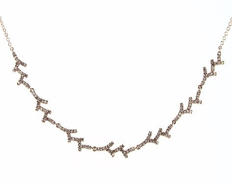 14K Rose Gold Coral Motif Diamond Necklace