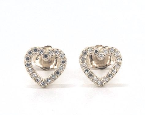 Earrings Diamond Earrings 14k Yellow Gold Open Diamond Heart Earrings Item 65819