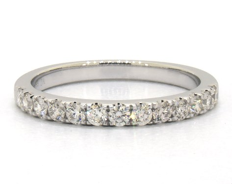Wedding Rings Womens Stackable 14k White Gold Micro Pave Diamond Ring 050 Ctw Item 66706