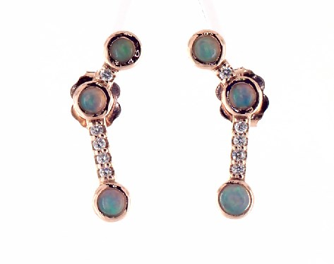 Opal and Diamond Constellation Climber Earrings by James Allen