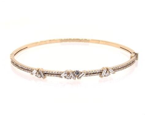 18K Yellow Gold Sprinkles Diamond Bangle Bracelet