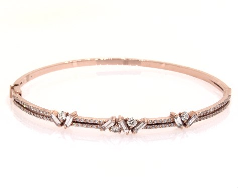 18K Rose Gold Sprinkles Diamond Bangle Bracelet