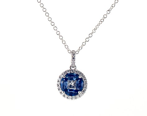 Marquise Sapphire and Diamond Pendant by James Allen