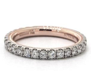 14K White and Rose Gold Tradition Wedding Band by Verragio