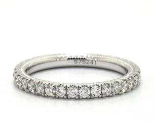 14K White Gold Tradition Wedding Band by Verragio