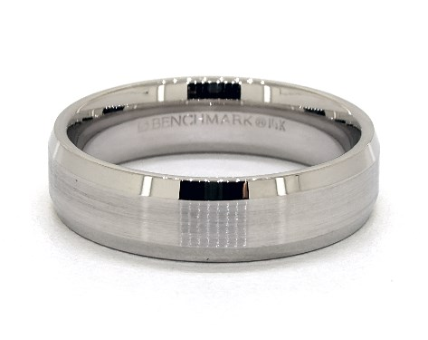 Palladium 6mm Beveled Comfort Fit Wedding Band