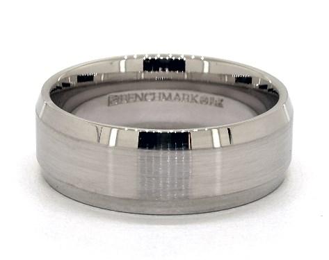 Palladium 8mm Beveled Comfort Fit Wedding Band