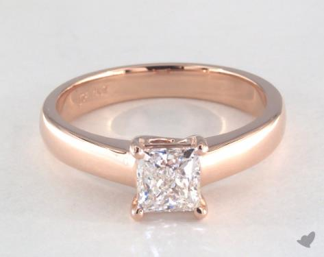 14K Rose Gold Solitaire Setting