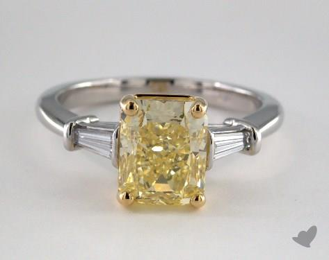 Platinum  Side stones Engagement Ring