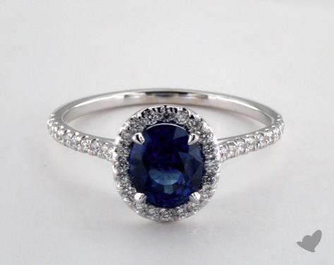 14K White Gold Unique Setting