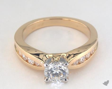 18K Yellow Gold Channel Set Setting