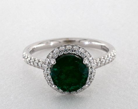 diamondere in jewelry emerald em wg rings emrald ewan r women may white ring gold birthstone d for