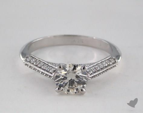 14K White Gold  Vintage Engagement Ring