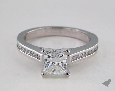 Platinum  Channel Set Engagement Ring