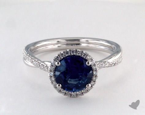 14K White Gold Halo Setting
