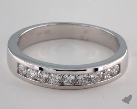 14K White Gold  Channel Set Engagement Ring