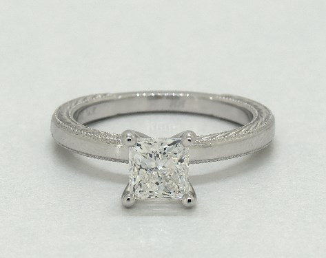 14K White Gold Solitaire Setting
