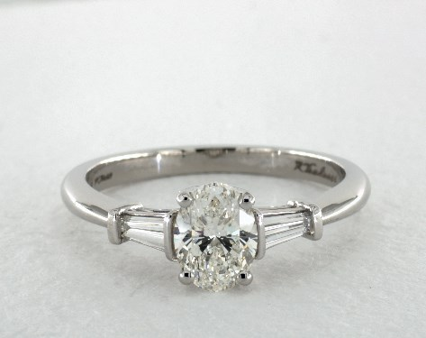 Oval cut engagement rings jamesallen platinum side stones setting junglespirit Choice Image