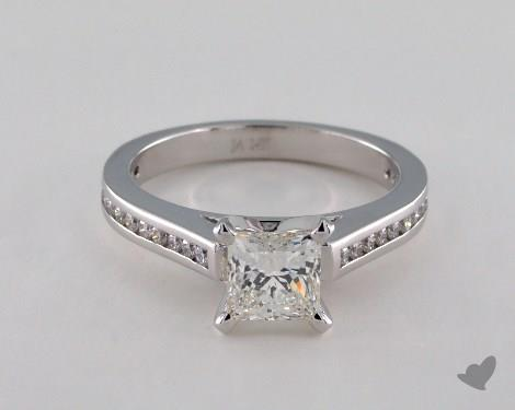14K White Gold Channel Set Setting