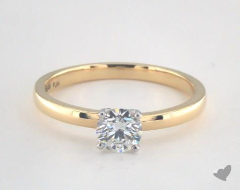 18K Yellow Gold  Solitaire Engagement Ring