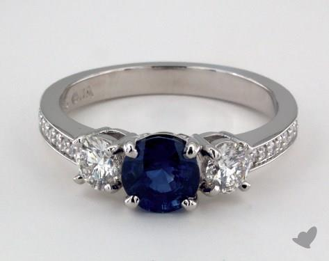 platinum three stone setting - Sapphire Wedding Rings