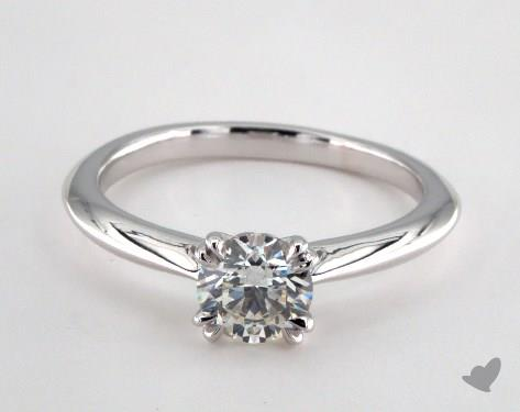 14K White Gold  Solitaire Engagement Ring