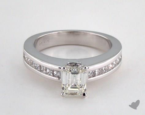 18K White Gold Channel Set Setting