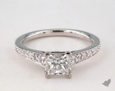 14K White Gold Pave Setting