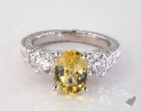 14K White Gold Vintage Setting