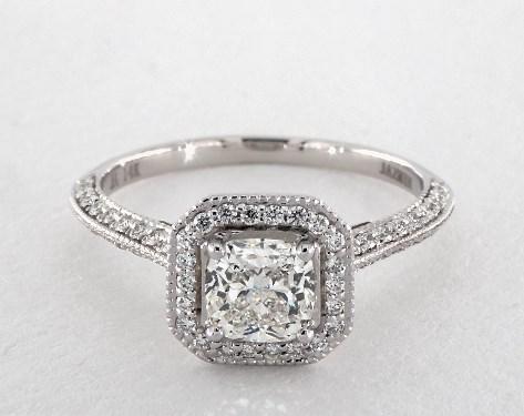 Cushion Cut Diamond Engagement Rings Jamesallen Com