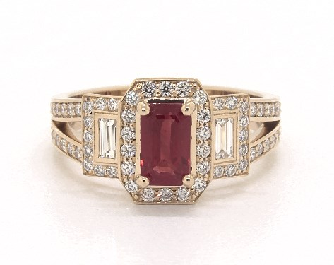 1ea3dd75e78e85 Red Ruby Engagement Rings - All Viewable In 360° HD