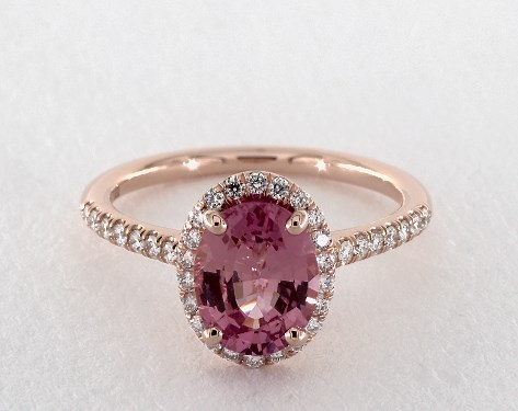 engagement gold pink white hqdefault natural rings watch padparadscha color ring diamond sapphire