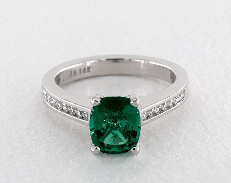 white com gemstone emrald stone img three stg engagement emerald setting gold jamesallen rings